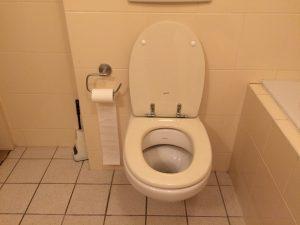 riool zit verstopt door toiletpapier